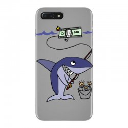 funny shark fishing for humans iPhone 7 Plus Case | Artistshot