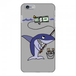 funny shark fishing for humans iPhone 6 Plus/6s Plus Case | Artistshot