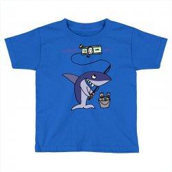 funny shark fishing for humans Toddler T-shirt | Artistshot