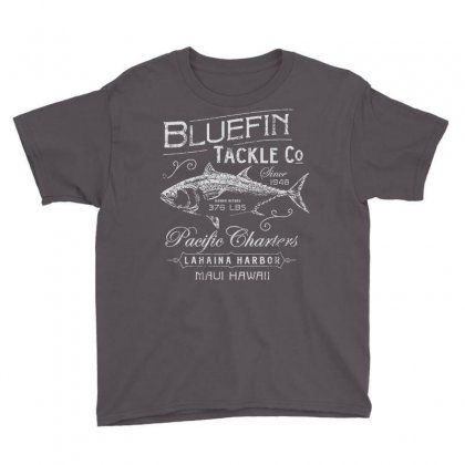 Bluefin Tackle Co Fishing Hawaii Cool Trendy Hip Novelty Youth Tee Designed By Mdk Art