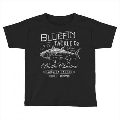Bluefin Tackle Co Fishing Hawaii Cool Trendy Hip Novelty Toddler T-shirt Designed By Mdk Art