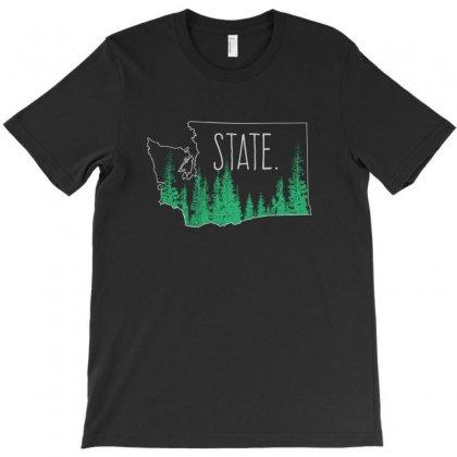 Washington State T-shirt Designed By Dnoza   Artistshot