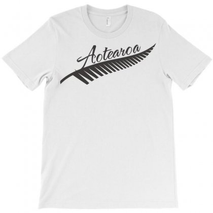 Silver Fern Aotearoa New Zealand Maori T-shirt Designed By Jokers