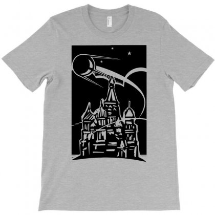Space Ship Over Castle T-shirt Designed By Gematees