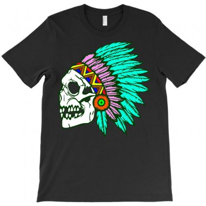 Native Skull T-shirt Designed By Theartsyinfamous