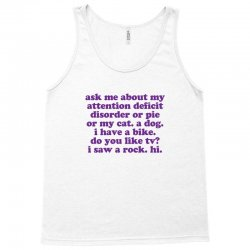 Funny ADHD quote Tank Top | Artistshot