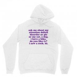 Funny ADHD quote Unisex Hoodie   Artistshot