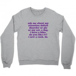 Funny ADHD quote Crewneck Sweatshirt   Artistshot
