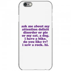 Funny ADHD quote iPhone 6/6s Case | Artistshot