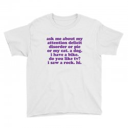 Funny ADHD quote Youth Tee | Artistshot