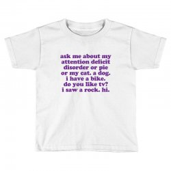 Funny ADHD quote Toddler T-shirt | Artistshot