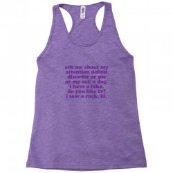 Funny ADHD quote Racerback Tank | Artistshot