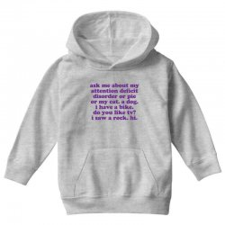 Funny ADHD quote Youth Hoodie | Artistshot