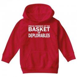 PROUD MEMBER OF THE BASKET OF DEPLORABLES Youth Hoodie | Artistshot