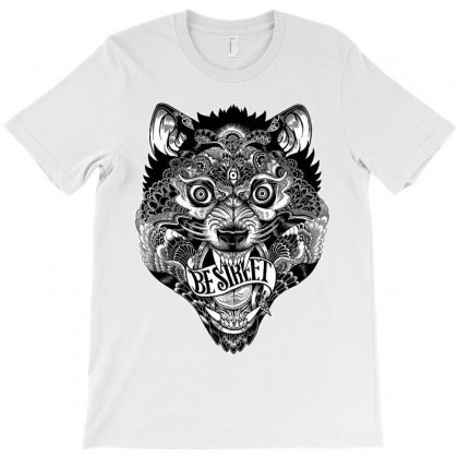 Scary Wolf T-shirt Designed By Theartsyinfamous