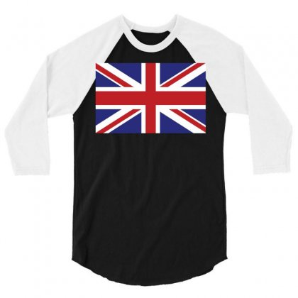 Flag Of The United Kingdom 3/4 Sleeve Shirt Designed By Designbysebastian
