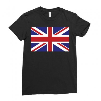 Flag Of The United Kingdom Ladies Fitted T-shirt Designed By Designbysebastian