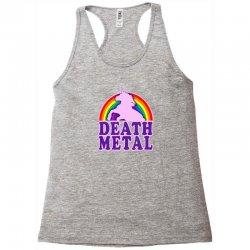 Funny Death Metal Unicorn Rainbow Racerback Tank | Artistshot