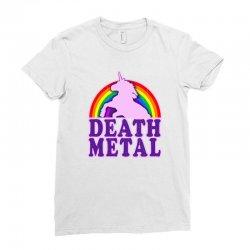 Funny Death Metal Unicorn Rainbow Ladies Fitted T-Shirt | Artistshot