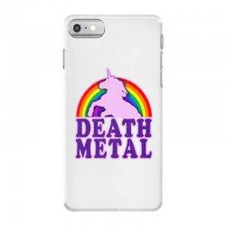 Funny Death Metal Unicorn Rainbow iPhone 7 Case | Artistshot