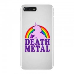 Funny Death Metal Unicorn Rainbow iPhone 7 Plus Case | Artistshot