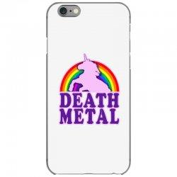 Funny Death Metal Unicorn Rainbow iPhone 6/6s Case | Artistshot