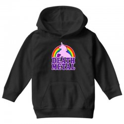 Funny Death Metal Unicorn Rainbow Youth Hoodie | Artistshot