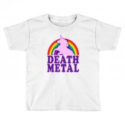 Funny Death Metal Unicorn Rainbow Toddler T-shirt | Artistshot