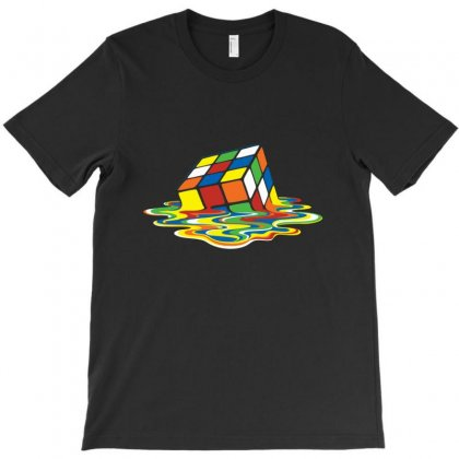Sheldon Melting Rubik T-shirt Designed By Munil