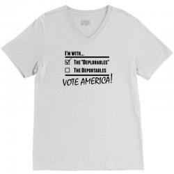 Deplorables America V-Neck Tee | Artistshot