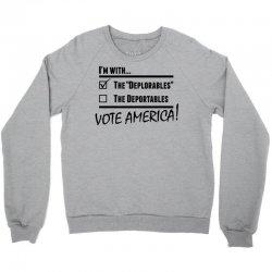 Deplorables America Crewneck Sweatshirt | Artistshot