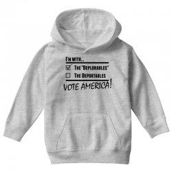 Deplorables America Youth Hoodie | Artistshot