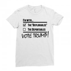 Donald Trump Deplorables Ladies Fitted T-Shirt | Artistshot