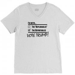 Donald Trump Deportables V-Neck Tee | Artistshot