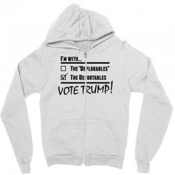 Donald Trump Deportables Zipper Hoodie | Artistshot