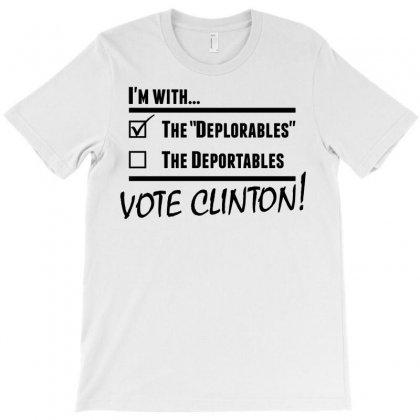Hilary Clinton Deplorables T-shirt Designed By Designbysebastian