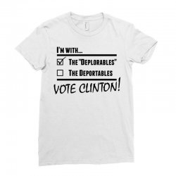 Hilary Clinton Deplorables Ladies Fitted T-Shirt | Artistshot