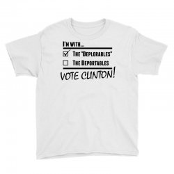 Hilary Clinton Deplorables Youth Tee | Artistshot