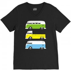 vw camper bus pick up van V-Neck Tee | Artistshot