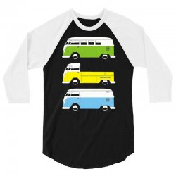 vw camper bus pick up van 3/4 Sleeve Shirt | Artistshot