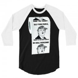 funny donald trump toilet paper 3/4 Sleeve Shirt | Artistshot