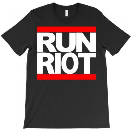 Run Riot T-shirt Designed By Retroracingshirt