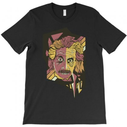 Albert Einstein Aspop Art T-shirt Designed By Artrend-paul