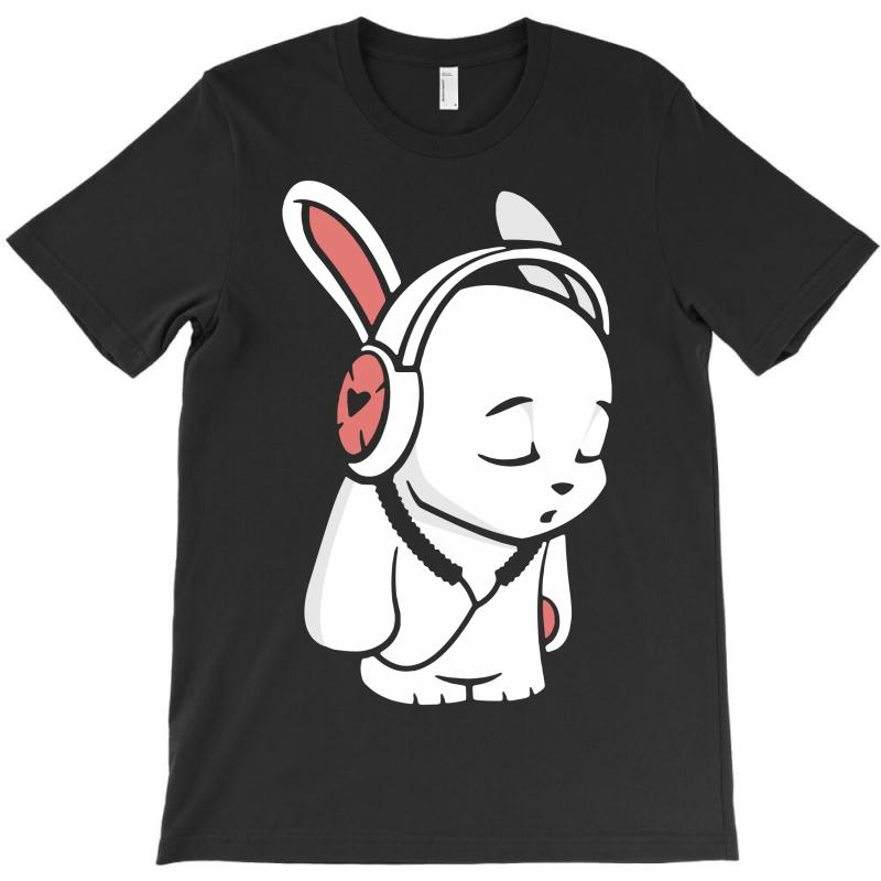 Love Music Cartoon Bunny T-shirt | Artistshot