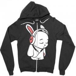 love music cartoon bunny Zipper Hoodie | Artistshot