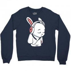 love music cartoon bunny Crewneck Sweatshirt | Artistshot