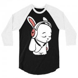 love music cartoon bunny 3/4 Sleeve Shirt | Artistshot