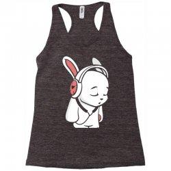 love music cartoon bunny Racerback Tank | Artistshot