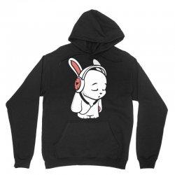 love music cartoon bunny Unisex Hoodie | Artistshot