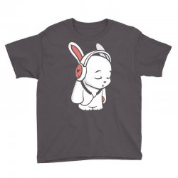 love music cartoon bunny Youth Tee | Artistshot